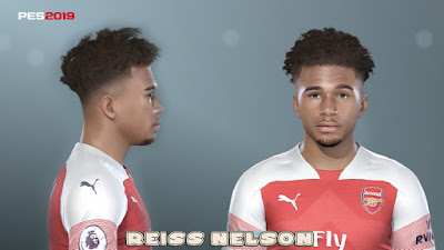 PES 2019 Faces Reiss Nelson by Prince Hamiz