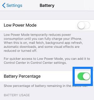 Menampilkan Persentase Baterai iPhone