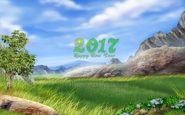 Happy New year 2017 HD Nature Background Free Download
