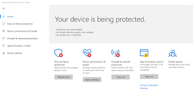 Disable Virus & Threat Protection Windows 10 Permanent