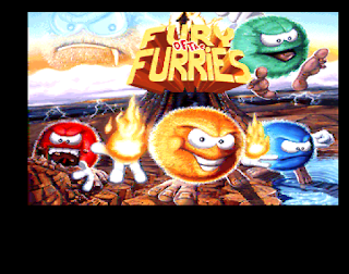 Captura de la pantalla inicial de Fury of the Furries, 1993, Commodore AMIGA