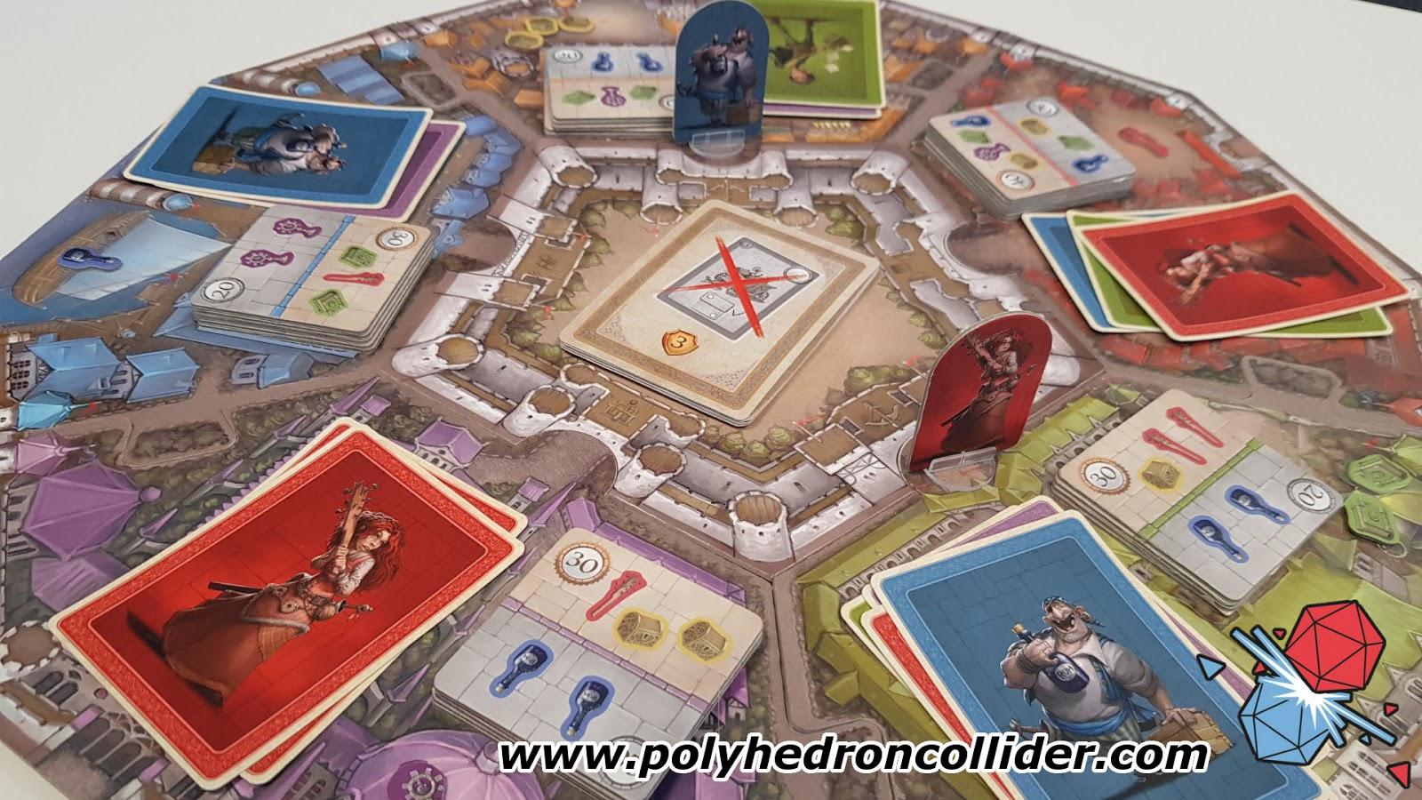 Polyhedron Collider Slyville Board Game Review - In Play from Above