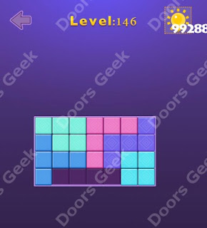 Cheats, Solutions, Walkthrough for Move Blocks Easy Level 146