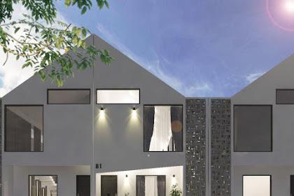 Desain Rumah 2 Lantai di Tanah Memanjang