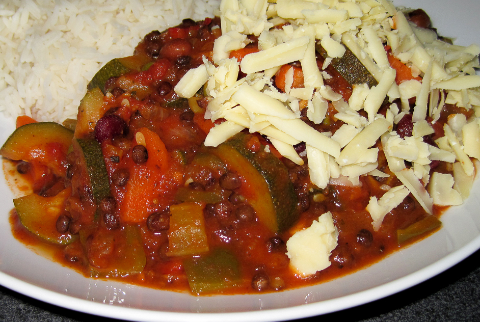 Chilli with Vegetables and Puy Lentils