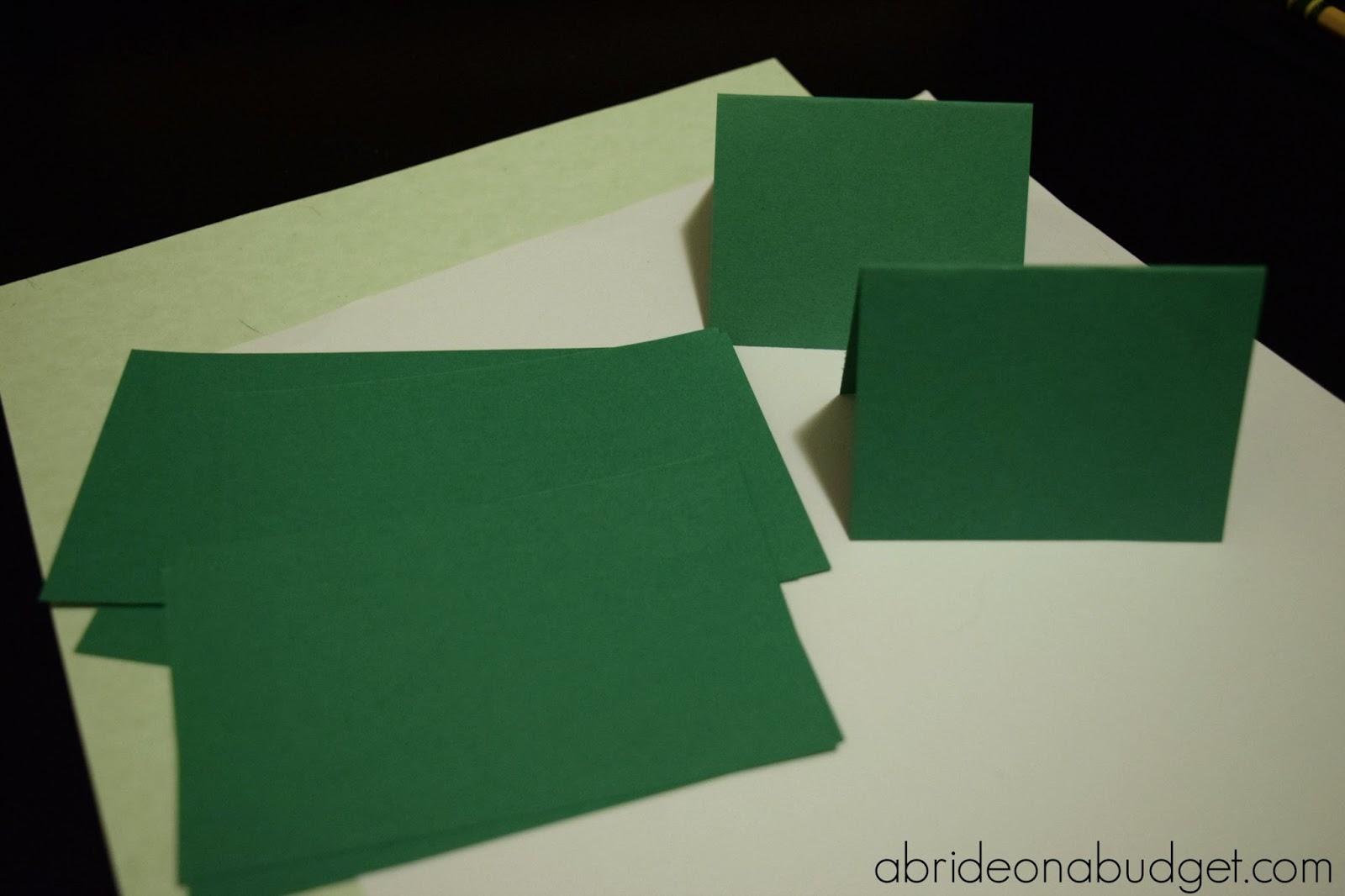Diy Golf Green Escort Cards A Bride On A Budget