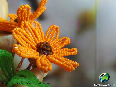 nagietek z koralików