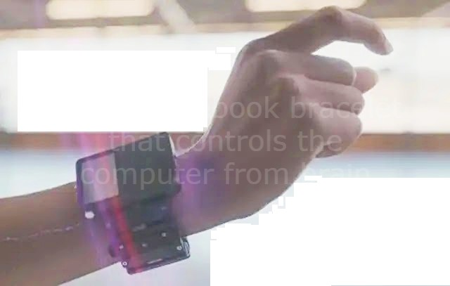 Digital Facebook bracelet that controls the computer from brain