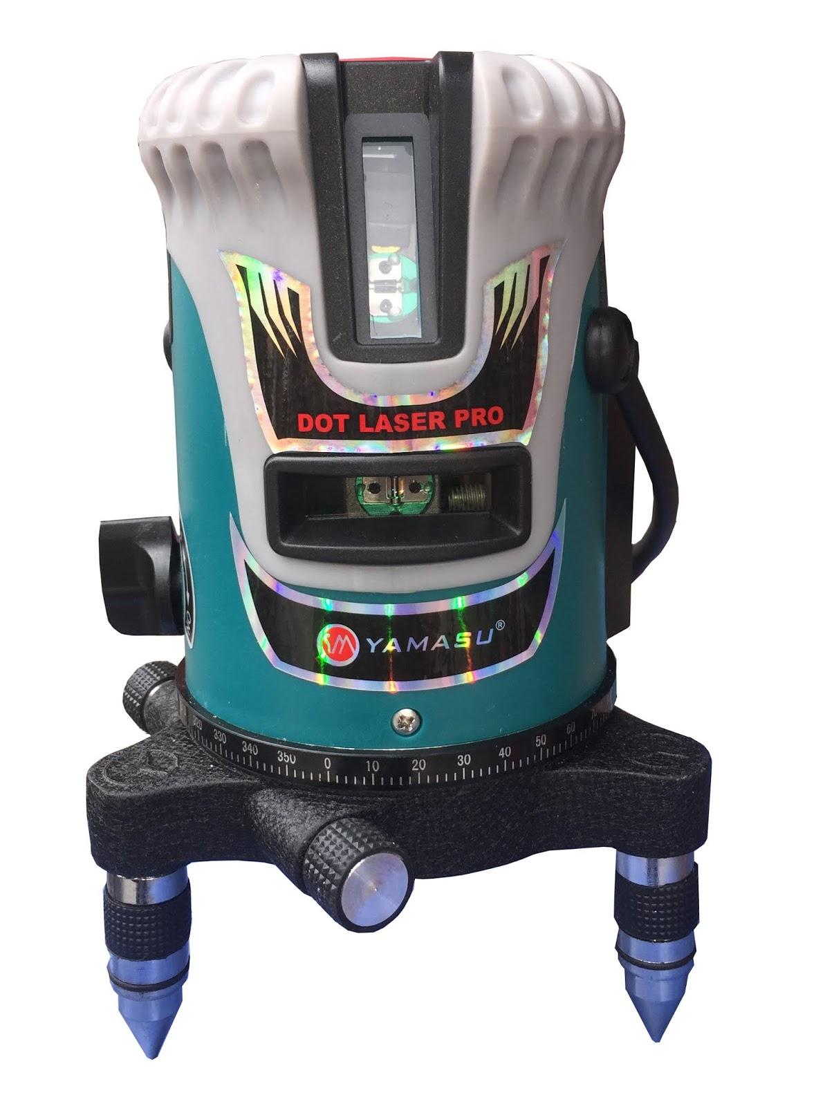 Máy cân mưc laser Yamasu tia xanh