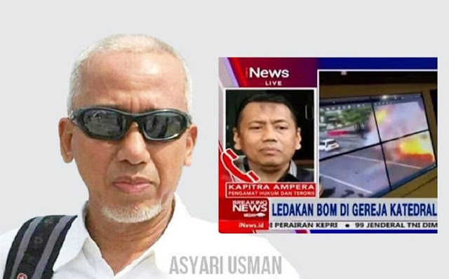Kapitra Ampera Berpikiran Keruh, Curiga Bom Makassar Terkait Sidang HRS