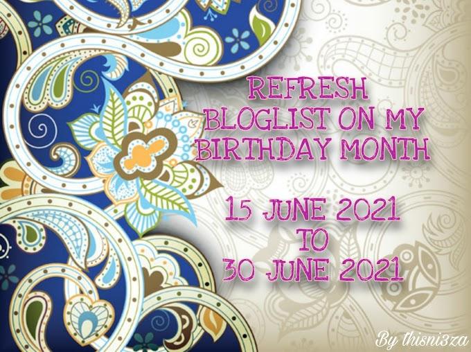 Refresh Bloglist On My Birthday Month