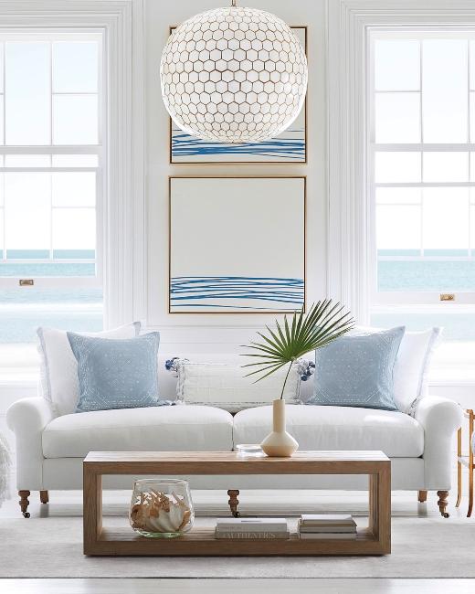 Coastal Living Room Design & Decor by Serena Lily