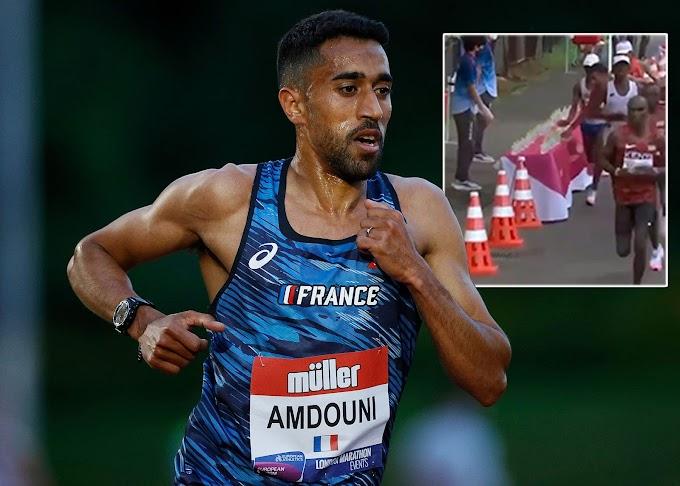 """A pusztító hőségben direkt lesöpörte a vizet társai elől a """"francia"""" olimpiai maratonfutó"""