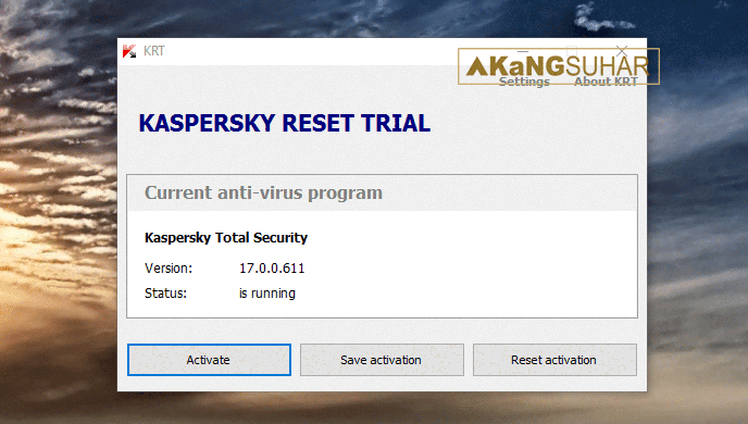 Download Kaspersky Reset Trial 5.1.0.35 Terbaru