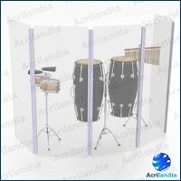 Aquário de Percussão IsoAcustic - Acrilandia