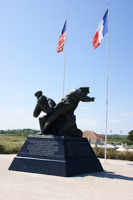 Uno dei monumenti dedicati allo sbarco in Normandia
