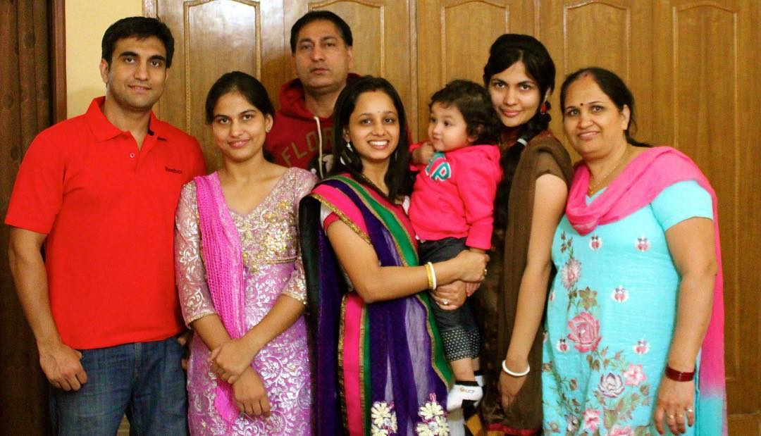 Lalit Shokeen with his Family