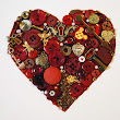 Buttons and Baubles - Heart Canvas