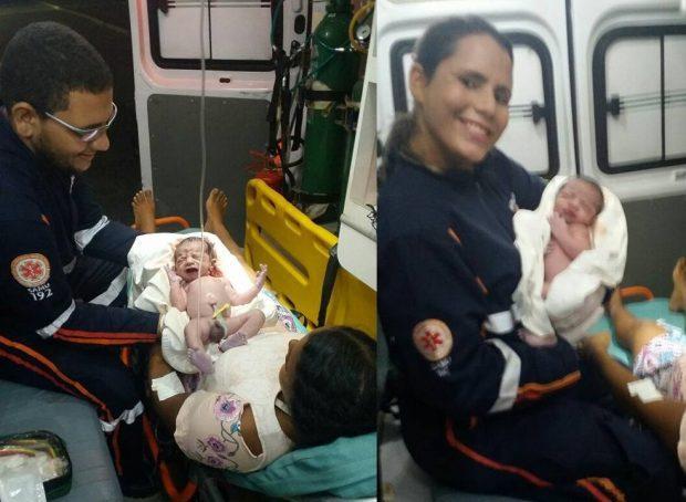 Equipe do Samu de Caaporã realiza parto dentro de ambulância na BR-101
