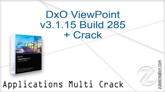 DxO ViewPoint v3.1.15 Build 285 + Crack