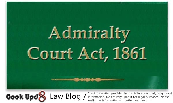 Admiralty Court Act, 1861 : Bare Acts