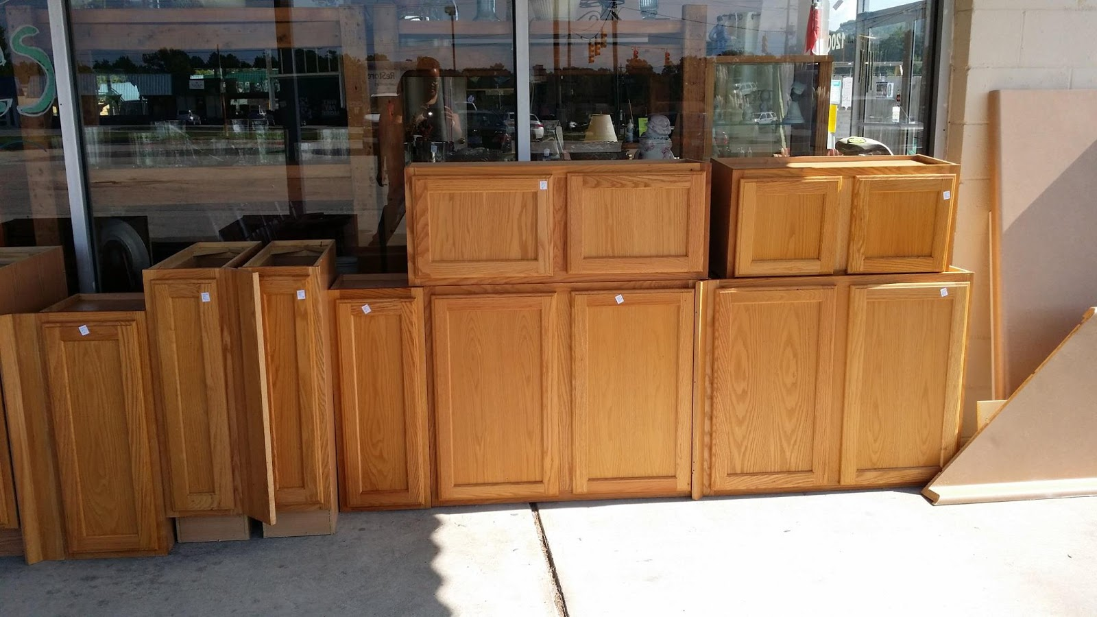 From old cabinets to diy play kitchen sisters what for Restoring old kitchen cabinets
