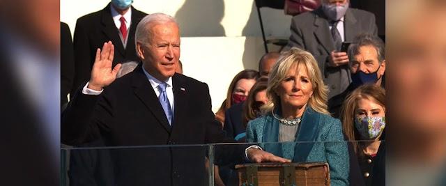 Newly elected President Joe Biden and Vice President Kamala Harris were sworn in