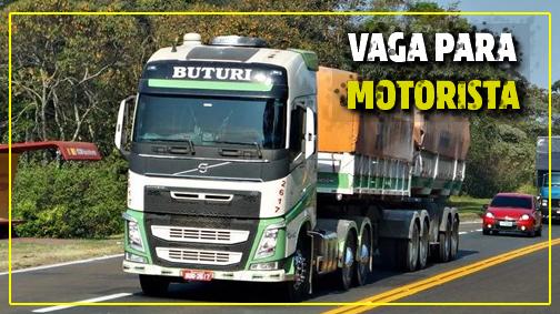 Transportadora Buturi abre novo processo seletivo para Motorista