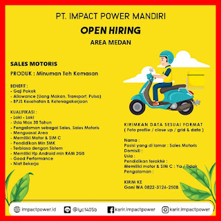 Sales Motoris PT Impact Power Mandiri