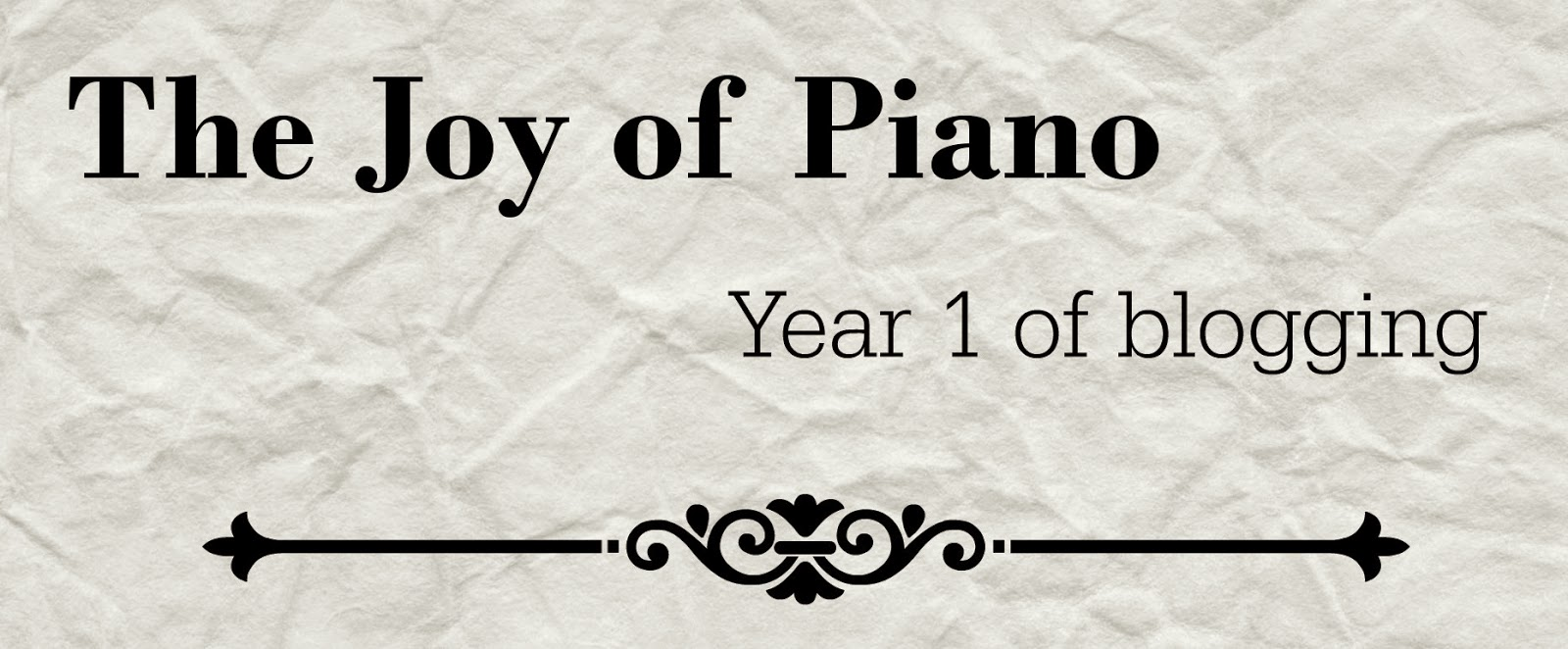 The Destiny of One: The Joy of Piano