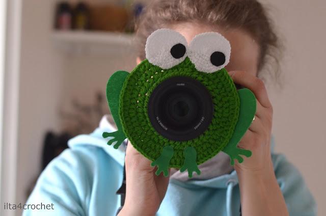 szydełko, fotografia, fotografia dzieci, żabka, nakładka