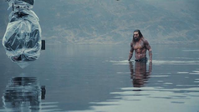 Jason Momoa como Aquaman en Justice League