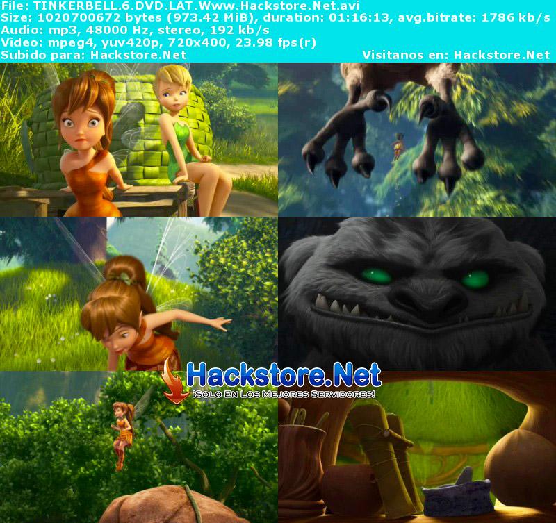 Capturas de Tinker Bell y La Bestia de Nunca Jamás (2014) DVDRip Latino