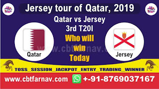 Today Match Prediction Qat vs Jer 3rd T20 Jersey tour of Qatar, 2019