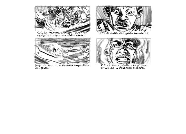 nero a metà #storyboard
