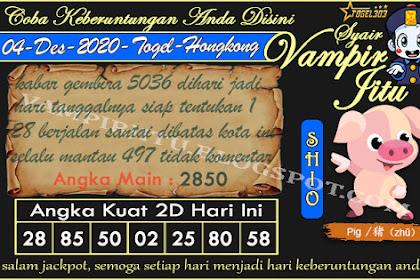 Syair Vampir Jitu Togel Hongkong Jumat 04 Desember 2020