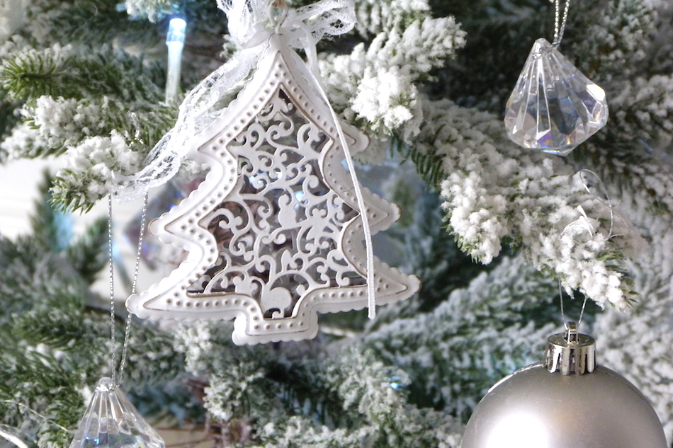an image of vintage metal tree christmas decoration