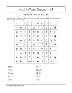 Number Words Wordsearch Puzzle