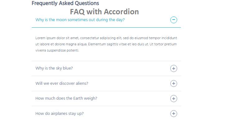 FAQ with Accordion Javascript