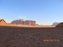 The red rock bluffs of Wadi Rum, Jordan (the death threat against me was made near here)