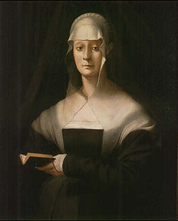 Jacopo da Pontormo's portrait of Maria Salviati (1537-43)