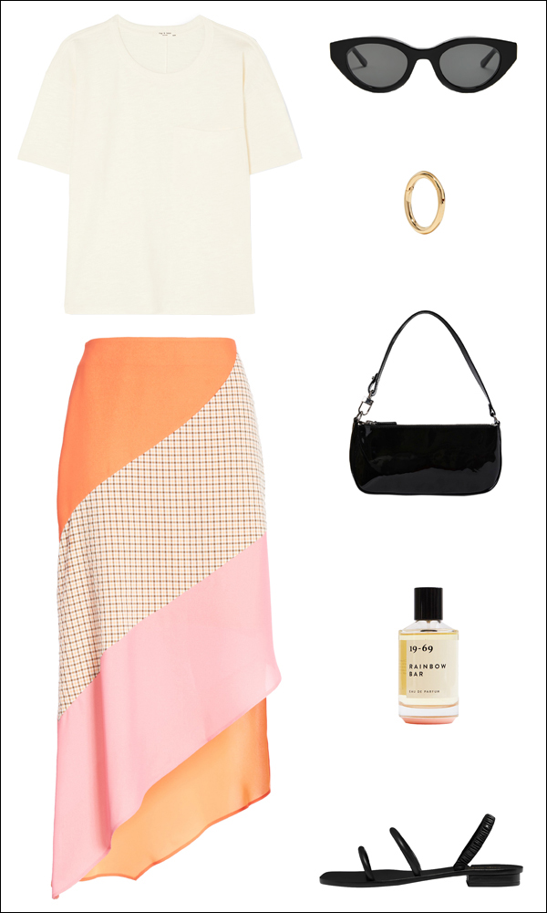 How to Wear a Bright Skirt for Summer