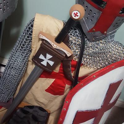 Knights Templar Shield and Scabbard - Coroplast DIY - CoroplastCreations.com - HalifaxSportsPhotos.ca