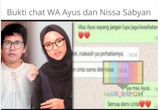 Chat Mesra Nissa Sabyan dan Ayus Beredar di Medsos, Netizen: Astagfirullah