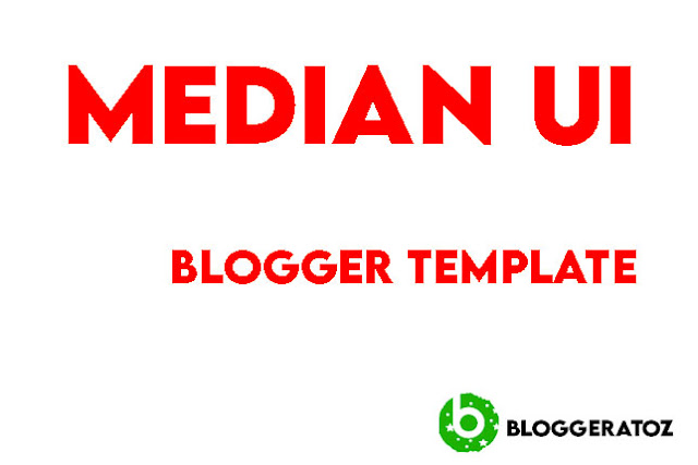 Median UI  AMP Responsive Blogger Template