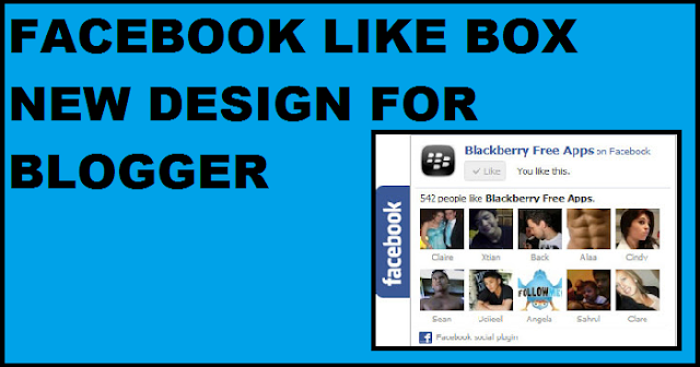facebook like page in blogger