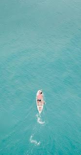 Boat at man Ocean Mobile HD Wallpaper
