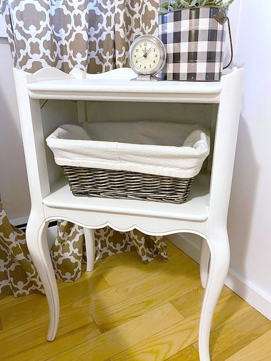 Farmhouse style painted end table