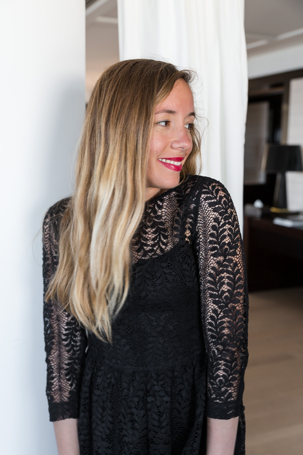 blogueuse mode robe dentelle noire