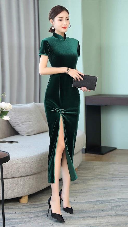 Green Cheongsam